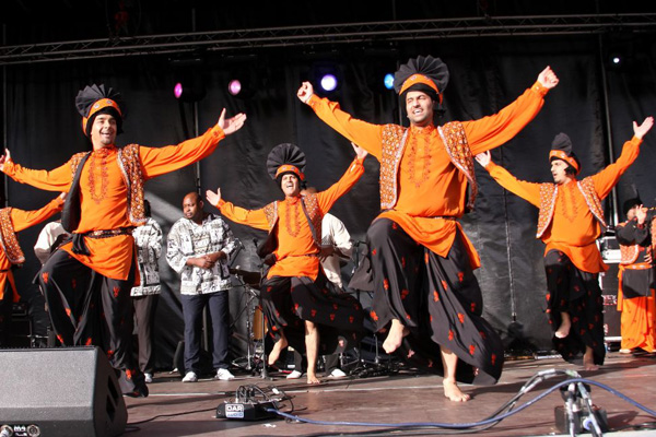 Four by Four Bhangra as part of Cohesion Plus Performance