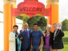 Eldred Bethel High Commissioner of the Bahamas, Gurvinder Sandher and the Mayor of Maidstone Cllr Thick at the Mela Welcome Gate