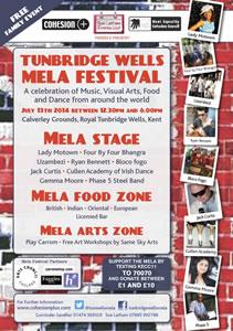 Tunbridge Wells Mela poster 2014
